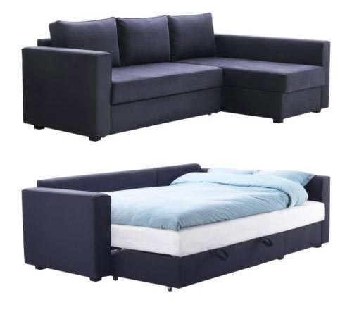 Great Ikea Pull Out Futon Fabulous Sleeper Sofa With Storage Chaise Storage Chaise Couch