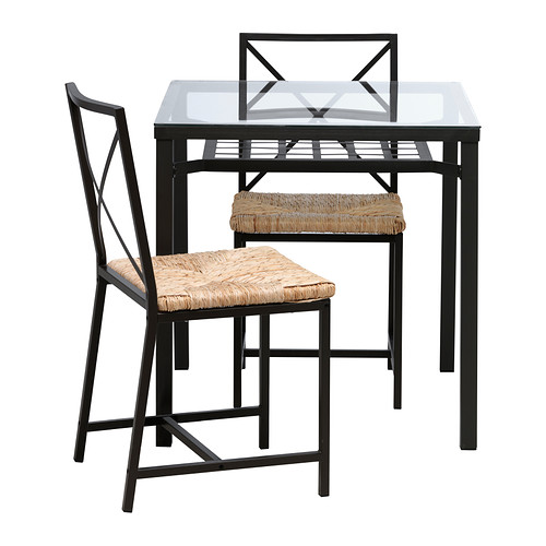 Great Ikea Small Glass Dining Table Grans Table And 2 Chairs Ikea
