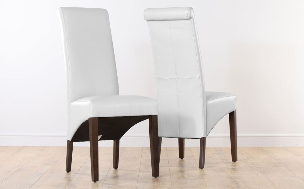 Great Ikea White Leather Dining Chair Awesome White Leather Dining Room Chairs All Dining Room