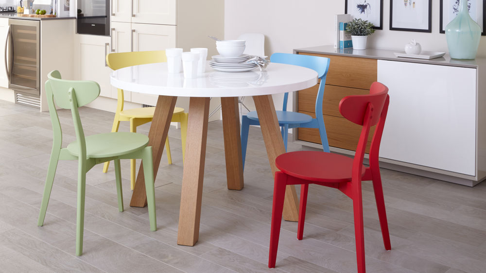 Great Kitchen Chairs Only Colourful Kitchen Chairs Bright Painted Wood Only 45 Uk