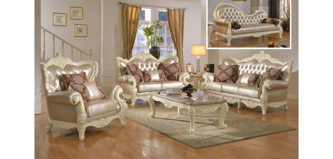 Great Leather And Wood Living Room Sets Cream Wood Trim Pearl Leather Living Room Set 674