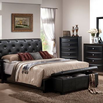 Great Leather Headboard Queen Bedroom Set Shop Leather Tufted Bed On Wanelo