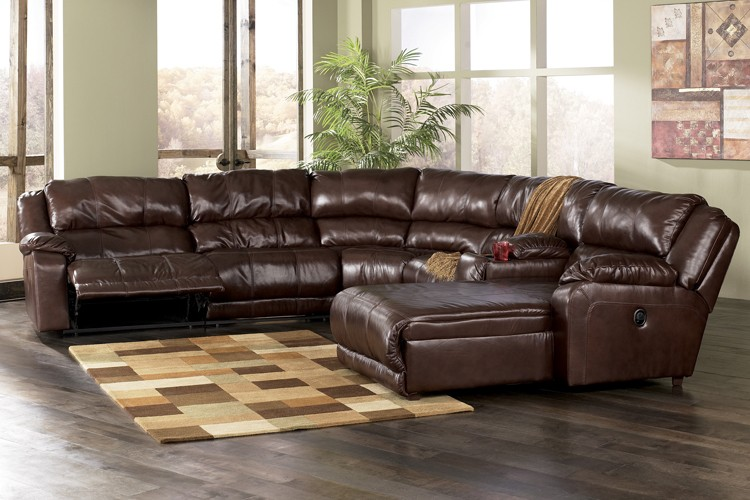 Great Leather Sectional Couch With Chaise Awesome Leather Sectional Sofas With Recliners With 46 Sectional