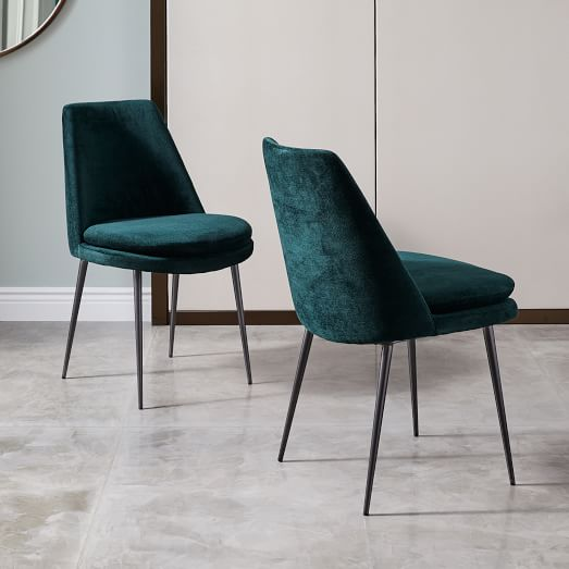 Great Low Back Dining Chairs Finley Low Back Velvet Dining Chair West Elm