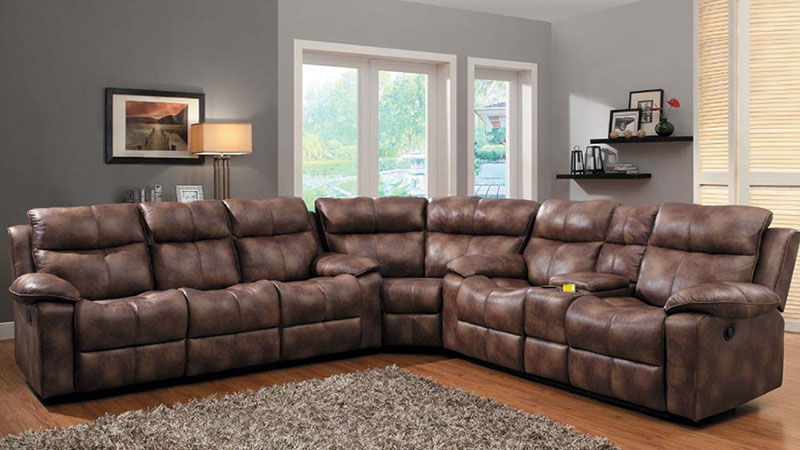 Great Microfiber Leather Sectional Sofa Fantastic Leather Sectional Sofas With Recliners With Sofa Beds
