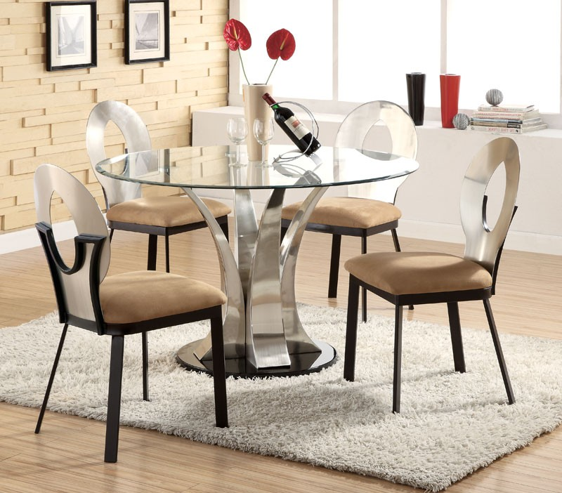 Great Modern Glass Round Dining Table Modern Round Dining Table Set Decorating Dining Room With Modern