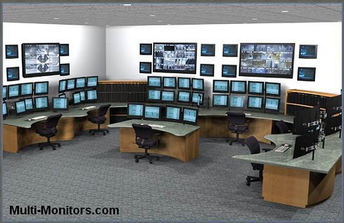 Great Multi Computer Desk Military Training And Command Multi Monitor Computer Desk Flickr