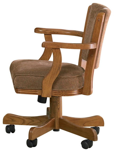 Great Oak Office Chair Casual Oak Mitchell Upholstered Arm Game Chair With Casters