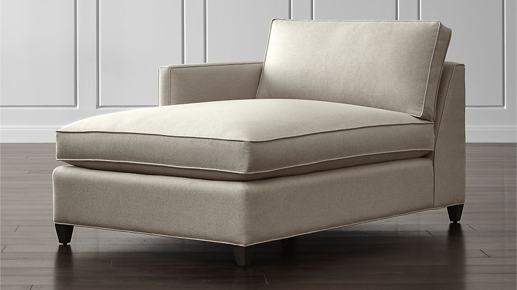 Great One Arm Chaise Lounge Dryden Left Arm Chaise Lounge Crate And Barrel