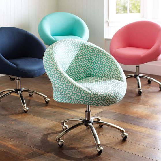 Great Rolling Desk Chair Egg Desk Chair Pool Pbteen