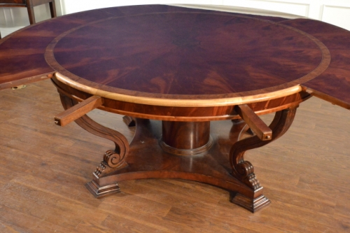Great Round Dining Table With Leaf Lh 21 Round Perimeter Leaf Round Dining Table Leighton Hall