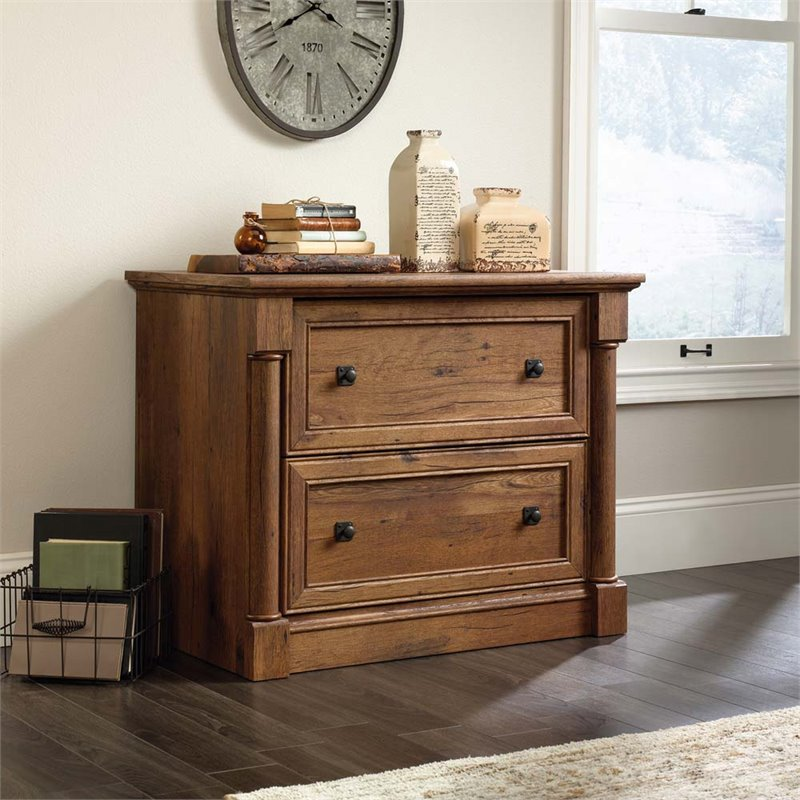 Great Sauder File Cabinet Sauder Palladia Lateral File In Vintage Oak 420607