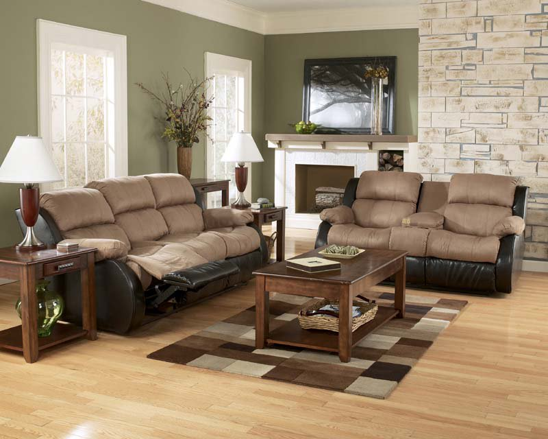 Great Signature Ashley Furniture Sofa Presley Cocao Reclining Sofa Set Signature Design Ashley Furniture