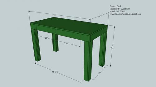 Great Simple Desk Plans Ana White A Simple Modern Desk Diy Projects