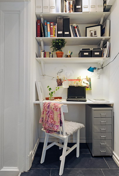 Great Small Home Desk Ideas Outstanding Cool Small Home Office Ideas Digsdigs For Closet Desk