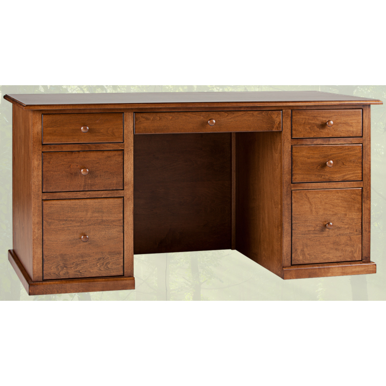 Great Solid Wood Office Desk Solid Wood Home Office Desk Traditional Double Pedestal