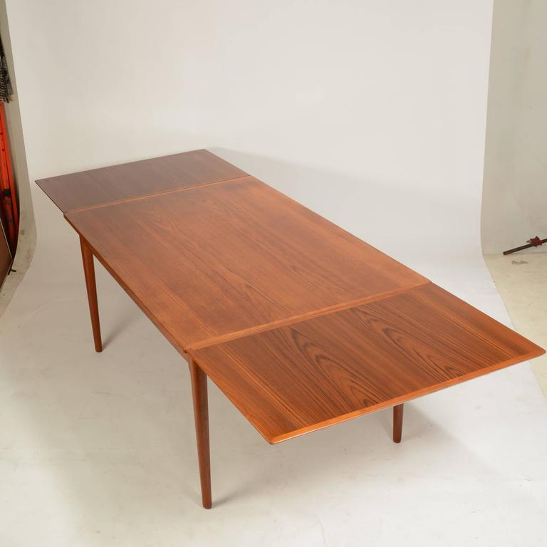 Great Teak Dining Table Large Danish Modern Teak Dining Table Lf Mobler For Sale At