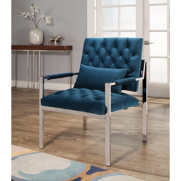 Great Teal Velvet Accent Chair Abson Ryder Stainless Steel And Velvet Accent Chair Teal Free