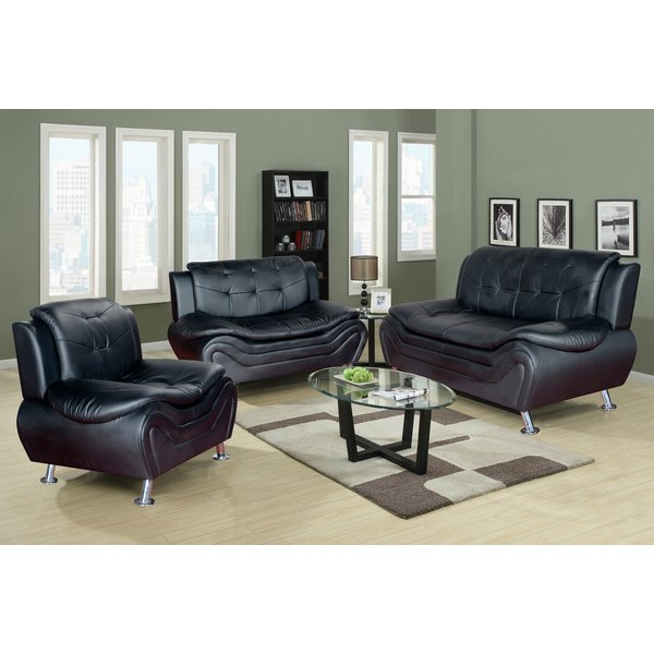Great Three Piece Leather Living Room Set Latitude Run Algarve 3 Piece Leather Living Room Set Reviews