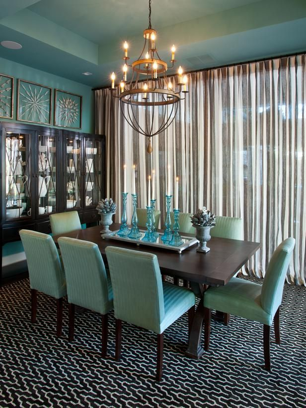 Great Turquoise Dining Room Chairs Turquoise Dining Room Home Interior Design Ideas