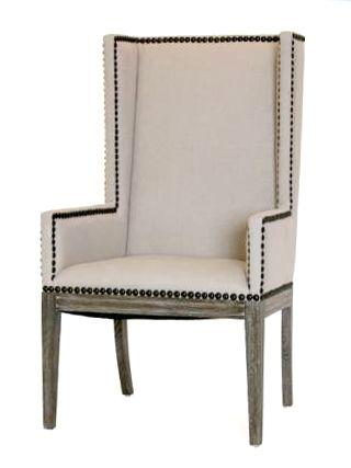 Great Upholstered Dining Chairs With Arms Nailhead Dining Chair With Arms Natural Linen Upholstery And Wood