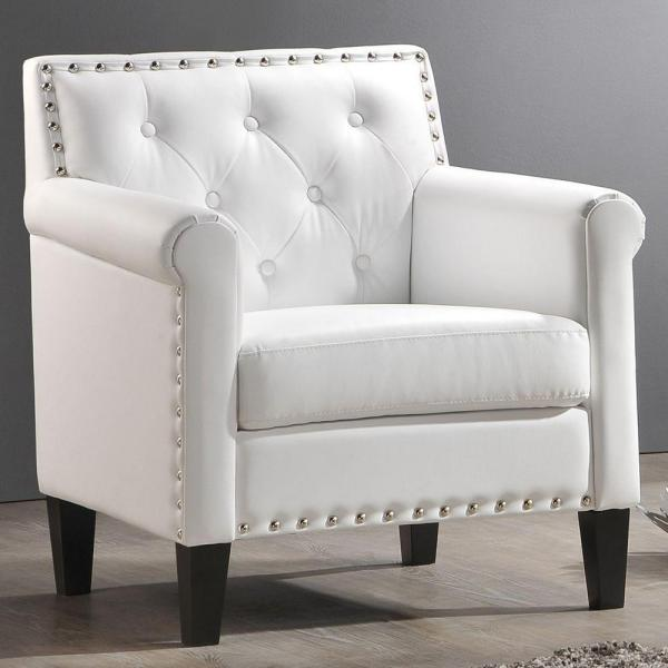 Great White Accent Chairs With Arms Accent Chair Ilia Home In Style