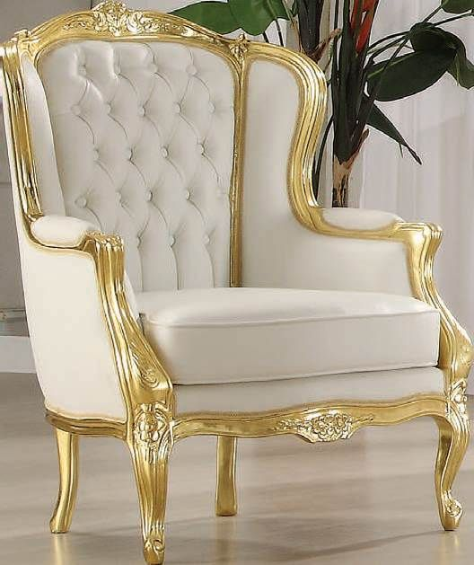Great White And Gold Accent Chair Unique White And Gold Accent Chair For Your Modern Furniture With