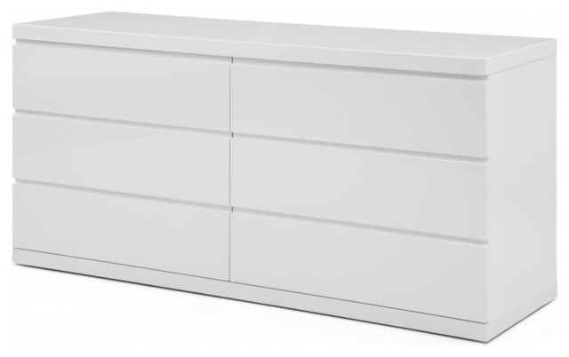 Great White High Gloss Dresser Anna Dresser Double High Gloss White Dressers Whiteline