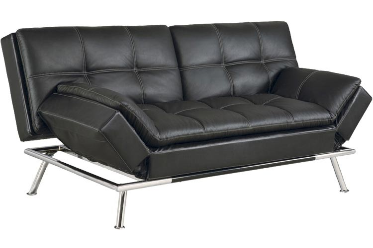 Great White Leather Futon Sofa Best Futon Couch Matrix Convertible Futon Sofa Bed Sleeper Black