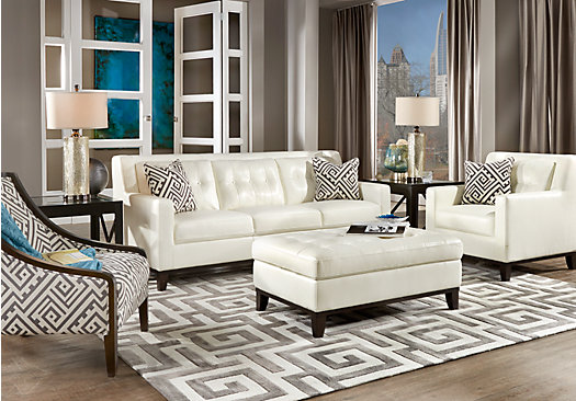 Great White Leather Living Room Chairs Install A White Leather Sofa And Enhance Your Living Room Elites