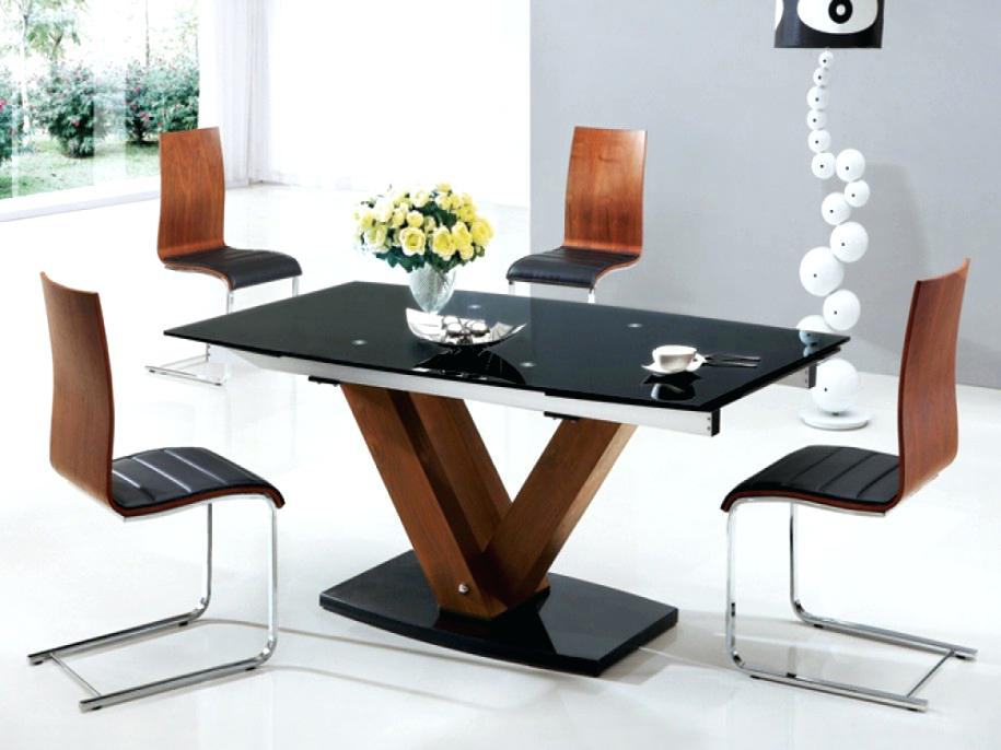Great Wood And Glass Dining Table Designs Round Wood And Glass Dining Table Mitventuresco