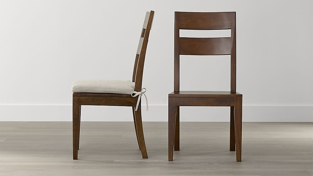 Great Wooden Dining Chairs With Arms Basque Honey Wood Dining Chair And Cushion Crate And Barrel