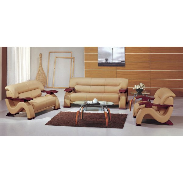 Impressive 2 Piece Leather Living Room Set Hokku Designs Chrysocolla Leather 3 Piece Living Room Set