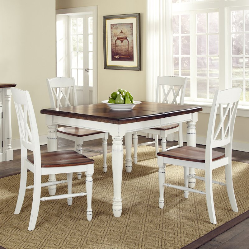 Impressive 4 Piece Dining Table Home Styles Monarch 5 Piece Dining Table With 4 Double X Back
