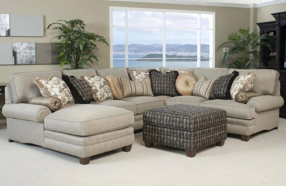 Impressive 6 Person Sectional Sofa Sofa 8 Person Sectional L Shaped Couch Double Chaise Sectional