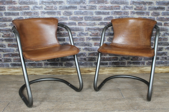 Impressive Armchair Style Dining Chairs Vintage Style Leather Chair