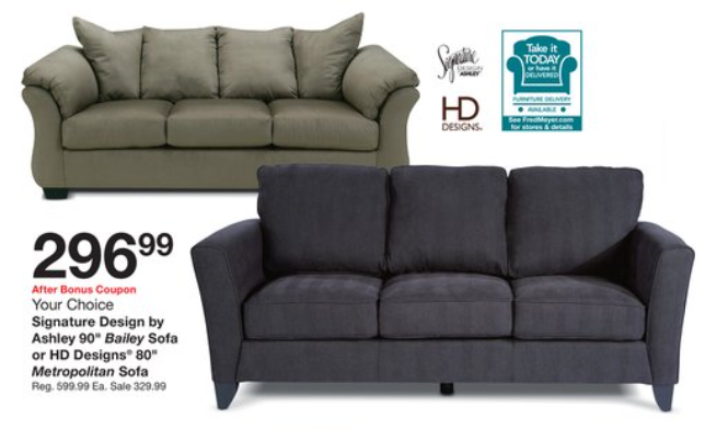 Impressive Ashley Furniture Bailey Sofa Fred Meyer Truckload Furniture Sale
