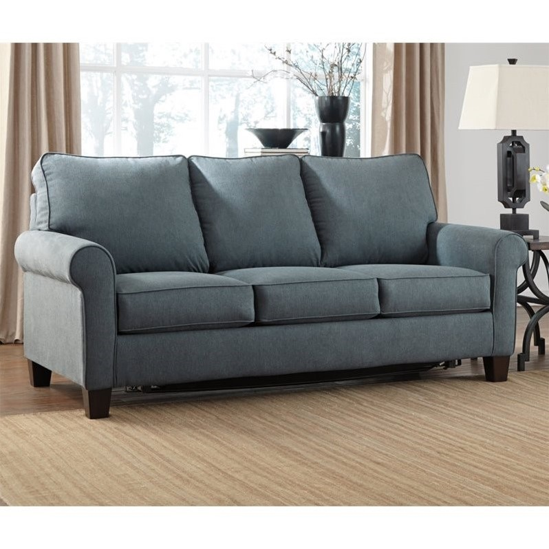 Impressive Ashley Furniture Sleeper Couch Ashley Zeth Fabric Full Size Sleeper Sofa In Denim 2710136