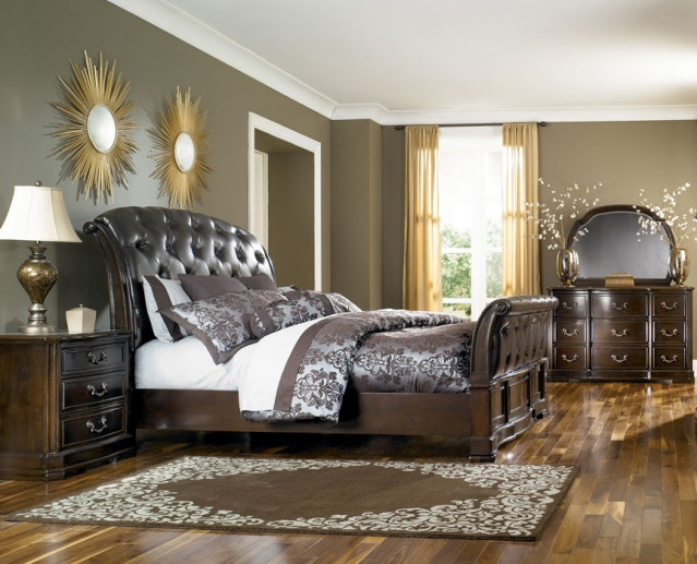 Impressive Ashley Furniture Wood Bed The Barclay Bedroom Group In King From Ashley Furniture