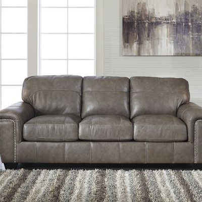 Impressive Ashley Gray Leather Sofa Best 25 Ashley Leather Sofa Ideas On Pinterest Neutral Basement