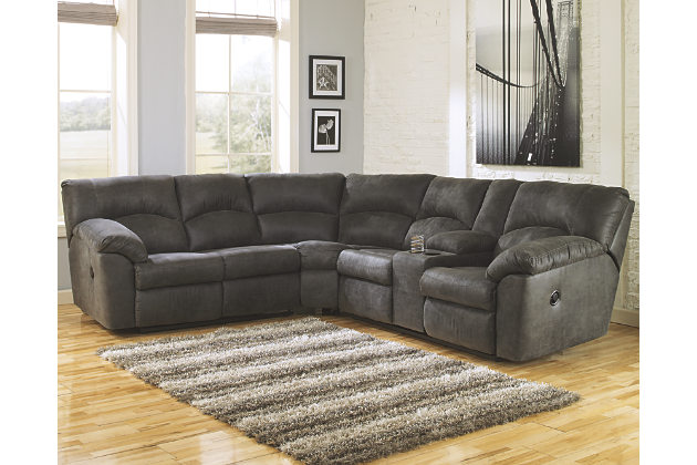 Impressive Ashley Gray Leather Sofa Sectional Sofa Design Comfort Detachable Pieces Gray Sectional