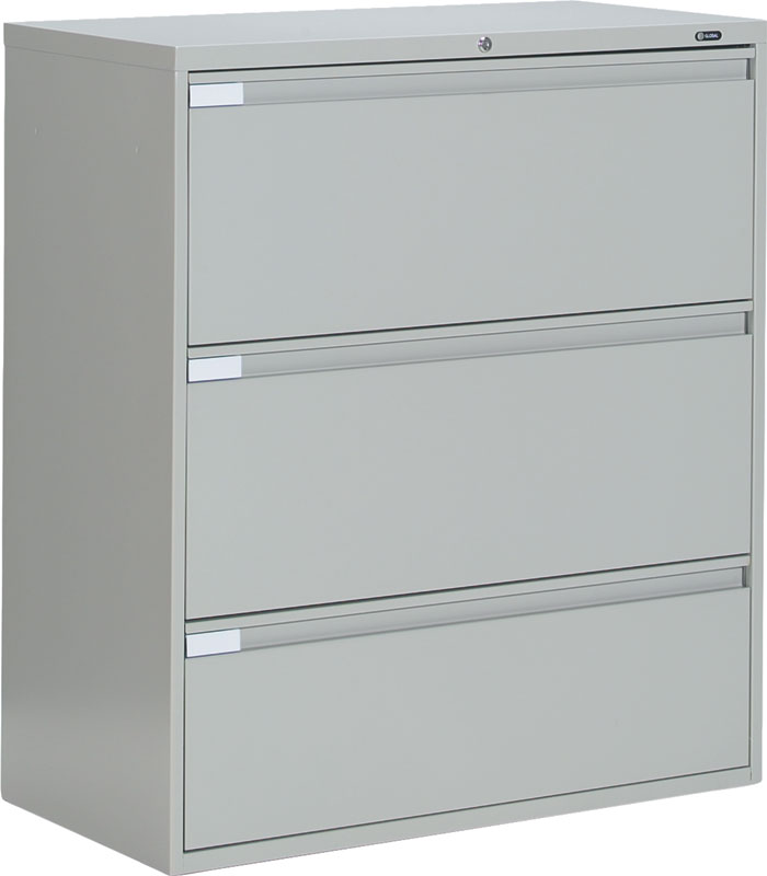 Impressive Big Filing Cabinets Global 9336p 3 Drawer Lateral Filing Cabinet 9336p 3f1h