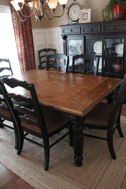 Impressive Black And Brown Dining Chairs Paint Dining Room Set Black Leave Top As Wood And Glass Ideas