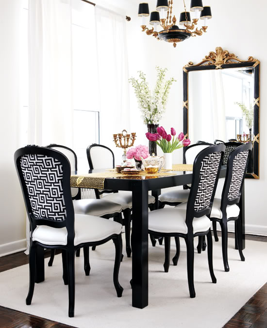 Impressive Black And White Dining Chairs Black And White Dining Room French Dining Room Style At Home