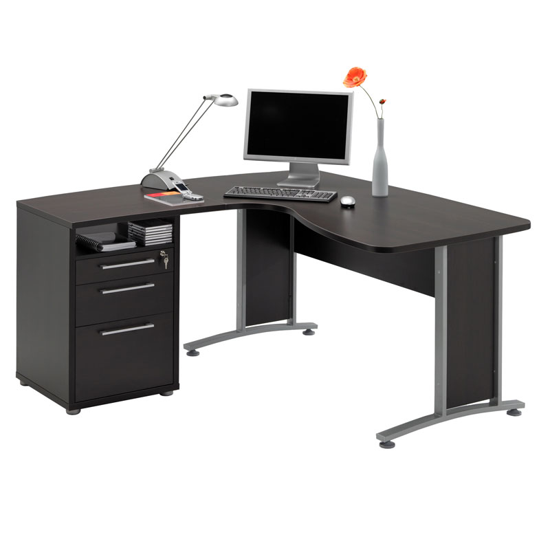 Impressive Black L Shaped Desk Captivating L Shaped Office Desk In Grey Tone With Drawer