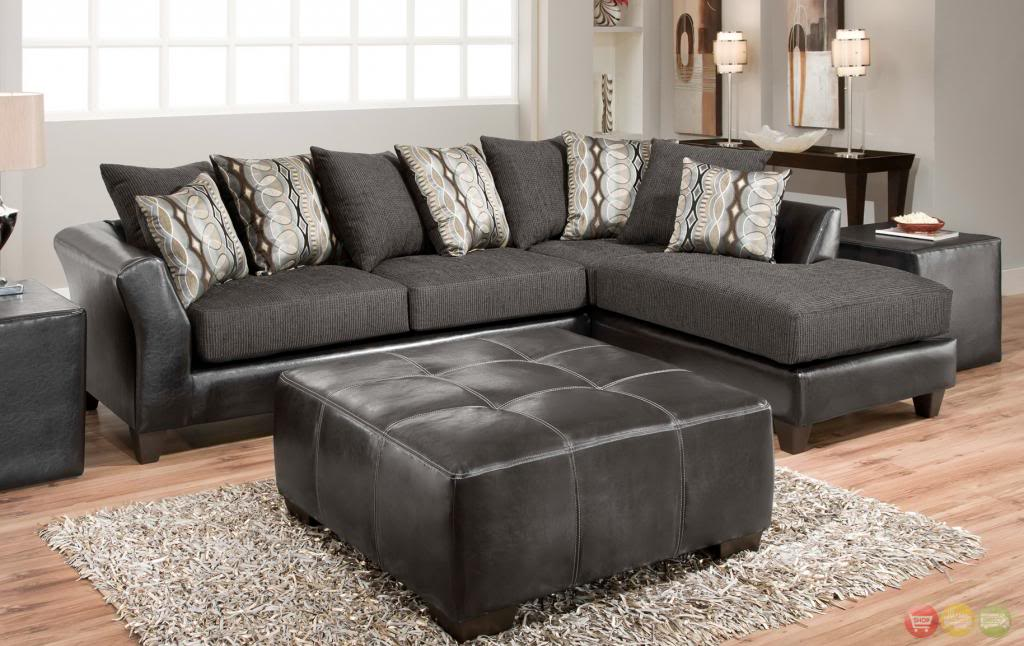 Impressive Black Sectional Sofa With Chaise Pretty Black Sectional With Chaise House Decorations And Furniture
