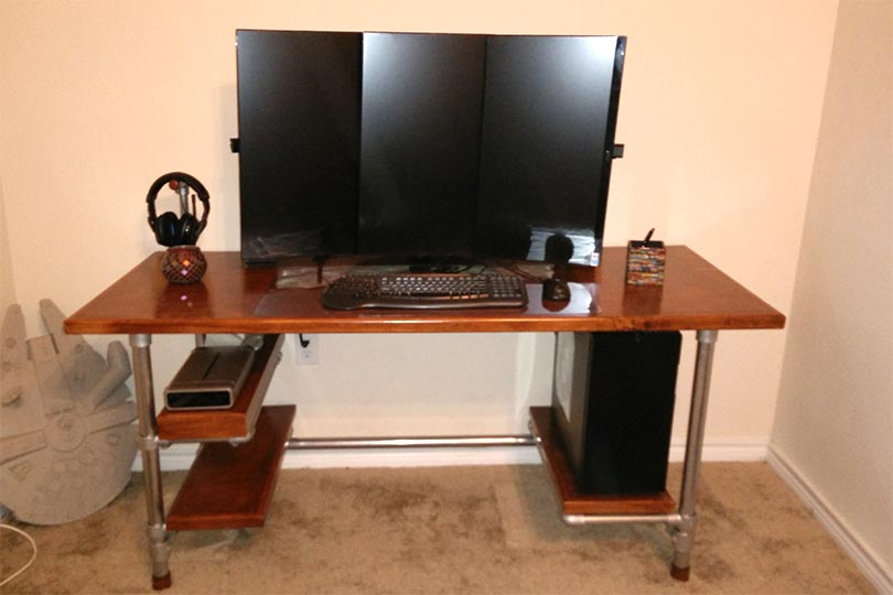 Impressive Build Own Desk Build Your Own Diy Computer Gaming Desk Simplified Building
