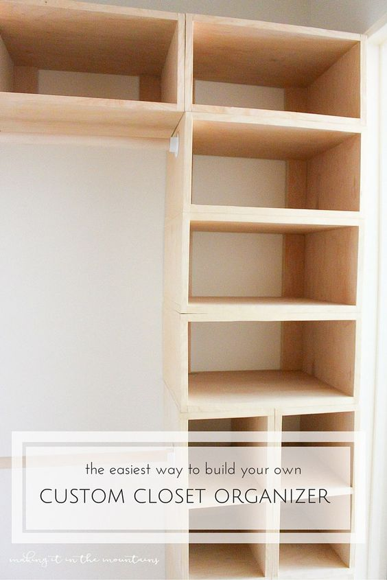 Impressive Build Your Own Custom Closet Diy Custom Closet Organizer The Brilliant Box System Custom