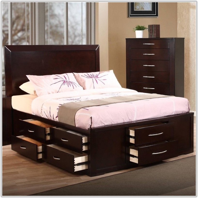 Impressive California King Frame With Drawers Cal King Bed Frame With Storage Brown Building Cal King Bed