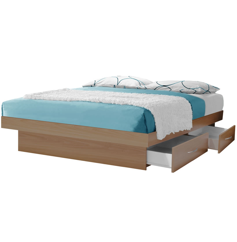 Impressive California King Platform Bed Frame California King Platform Bed With 4 Drawers Contempo Space
